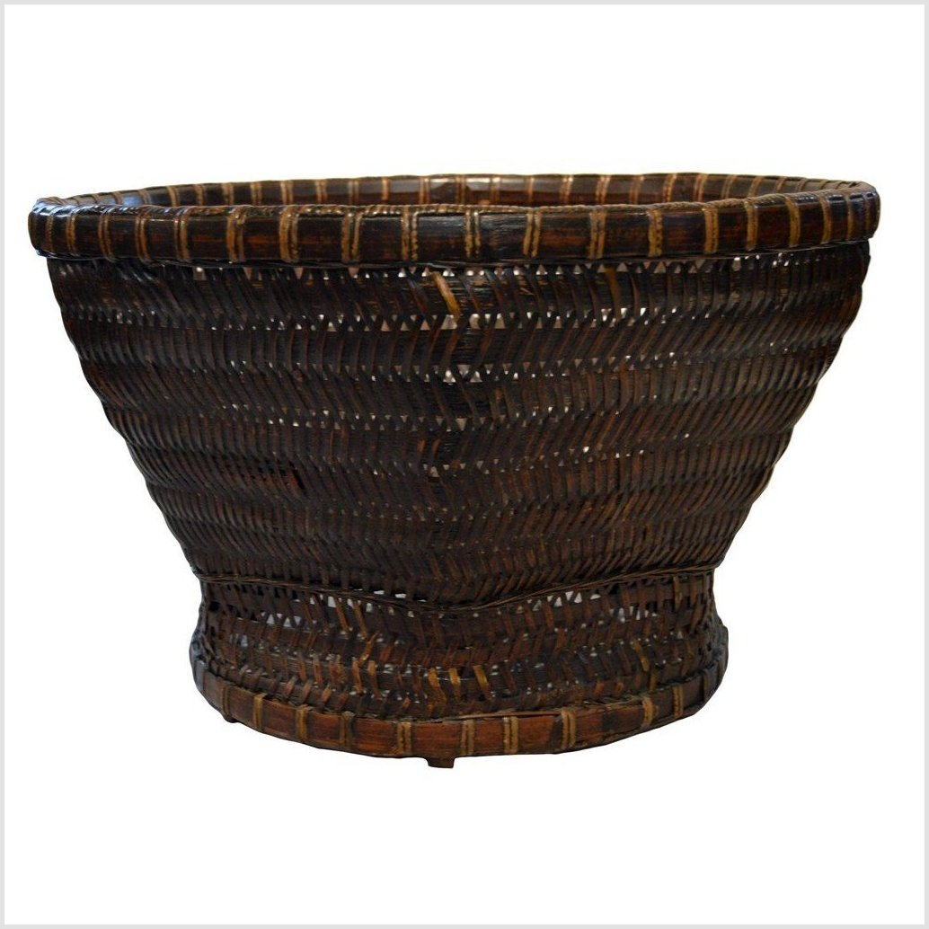 Antique Footed Chinese Woven Basket