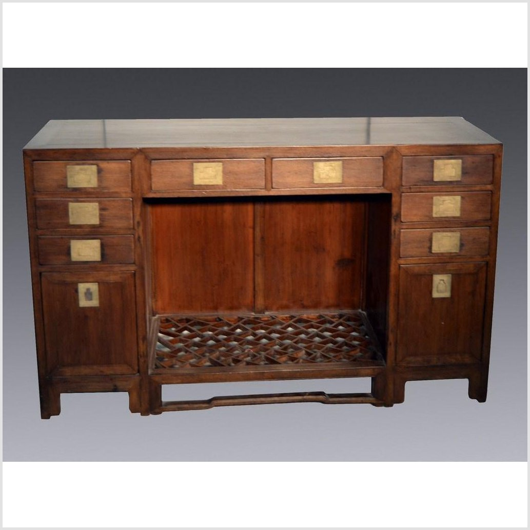 Antique Chinese Fretwork Desk