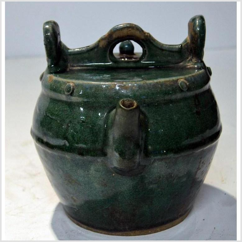 Antique Green Glaze Ceramic Pitcher