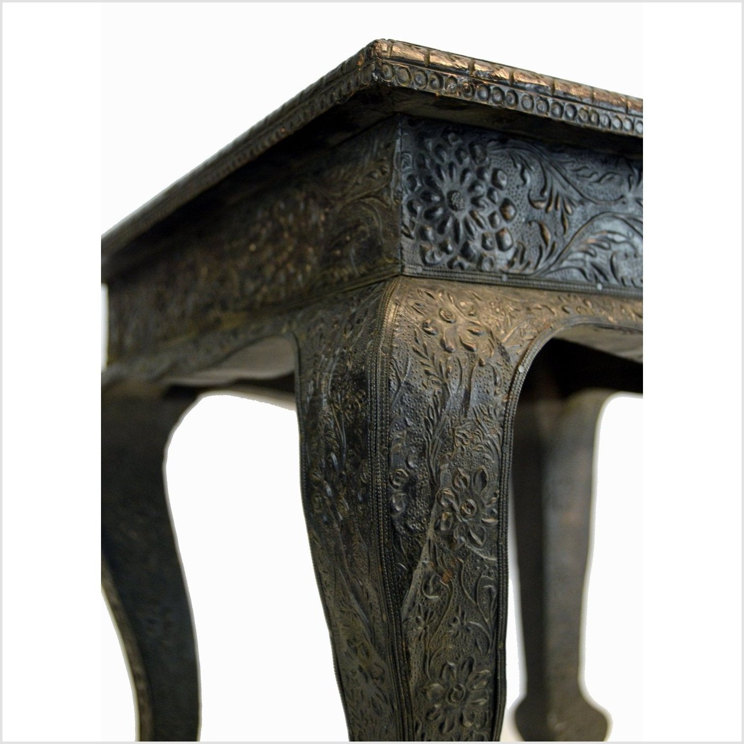 Antique India Hand Tooled Table