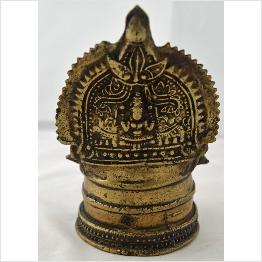 Antique Indian Brass Oil Lamp