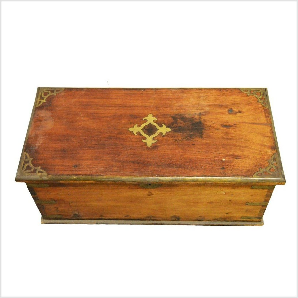 Antique Indian Lacquered Trunk / Chest