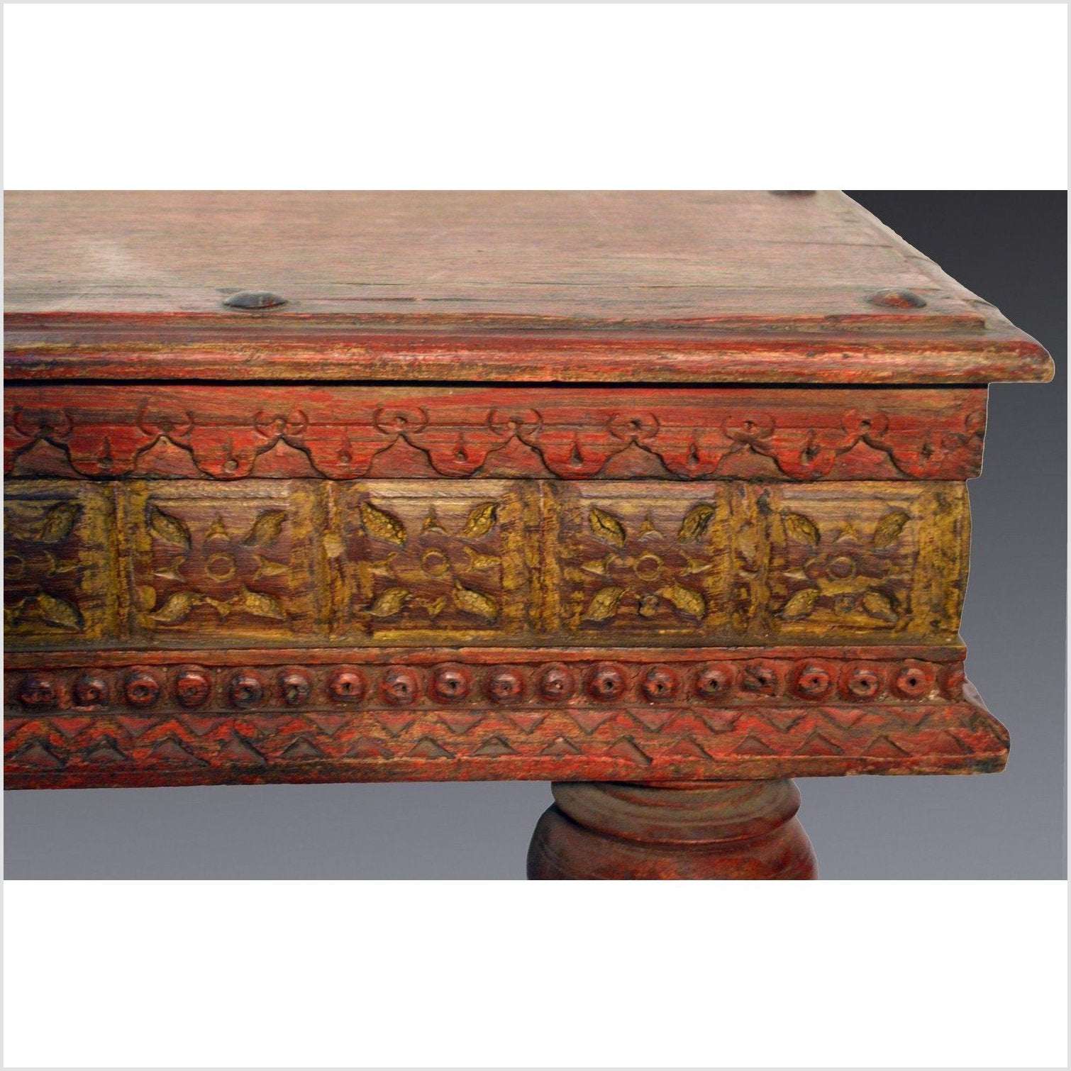 Antique Indian Painted Coffee Table
