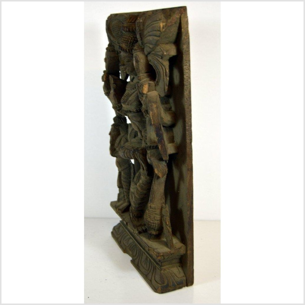 Antique Indian Sheesham Wood Carving