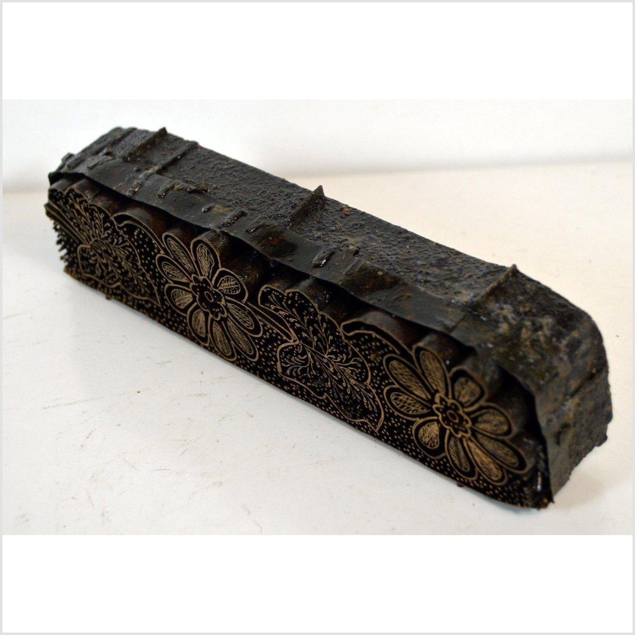 Antique Indonesian COPPER BATIK INK BLOCK