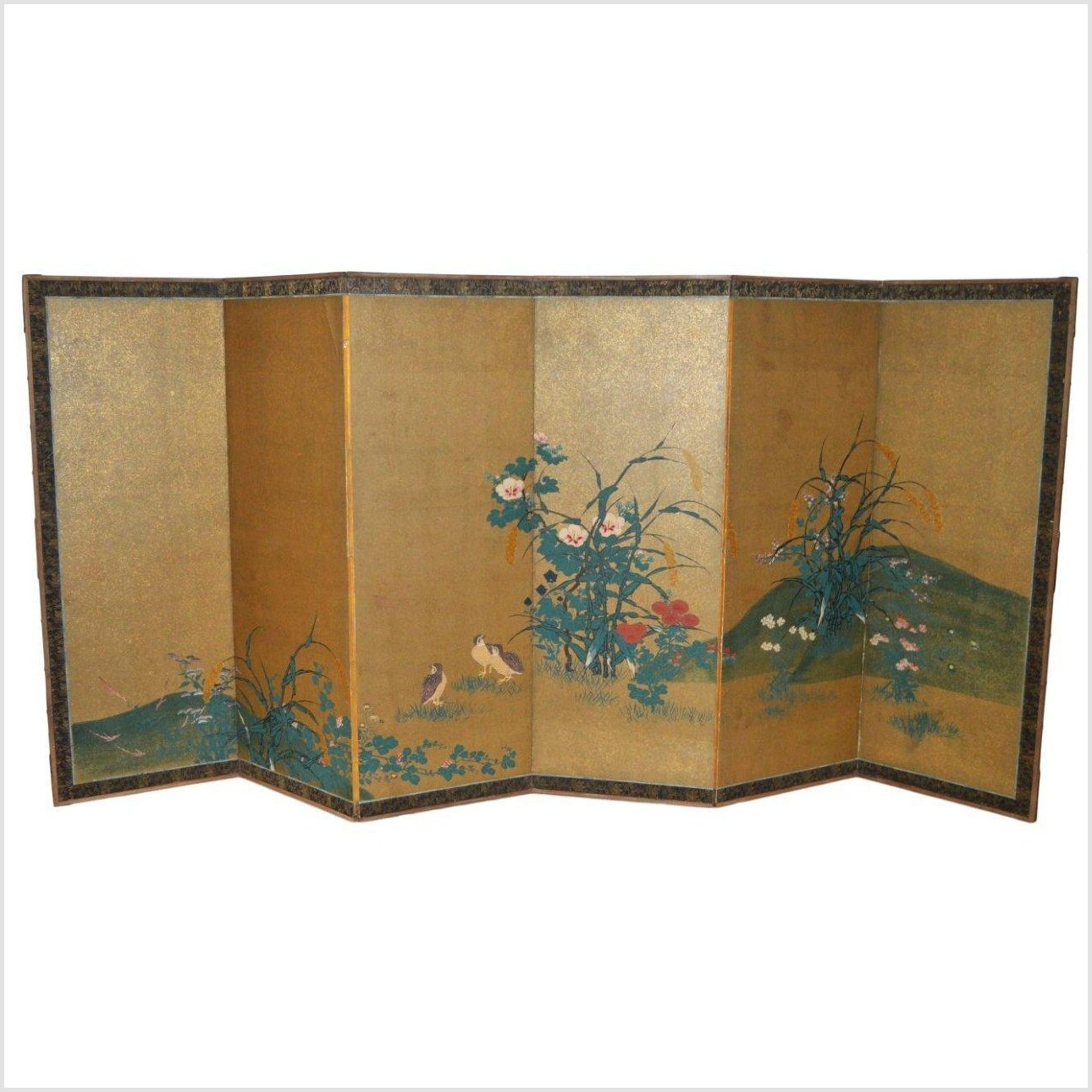 Antique Japanese Gilt Screen