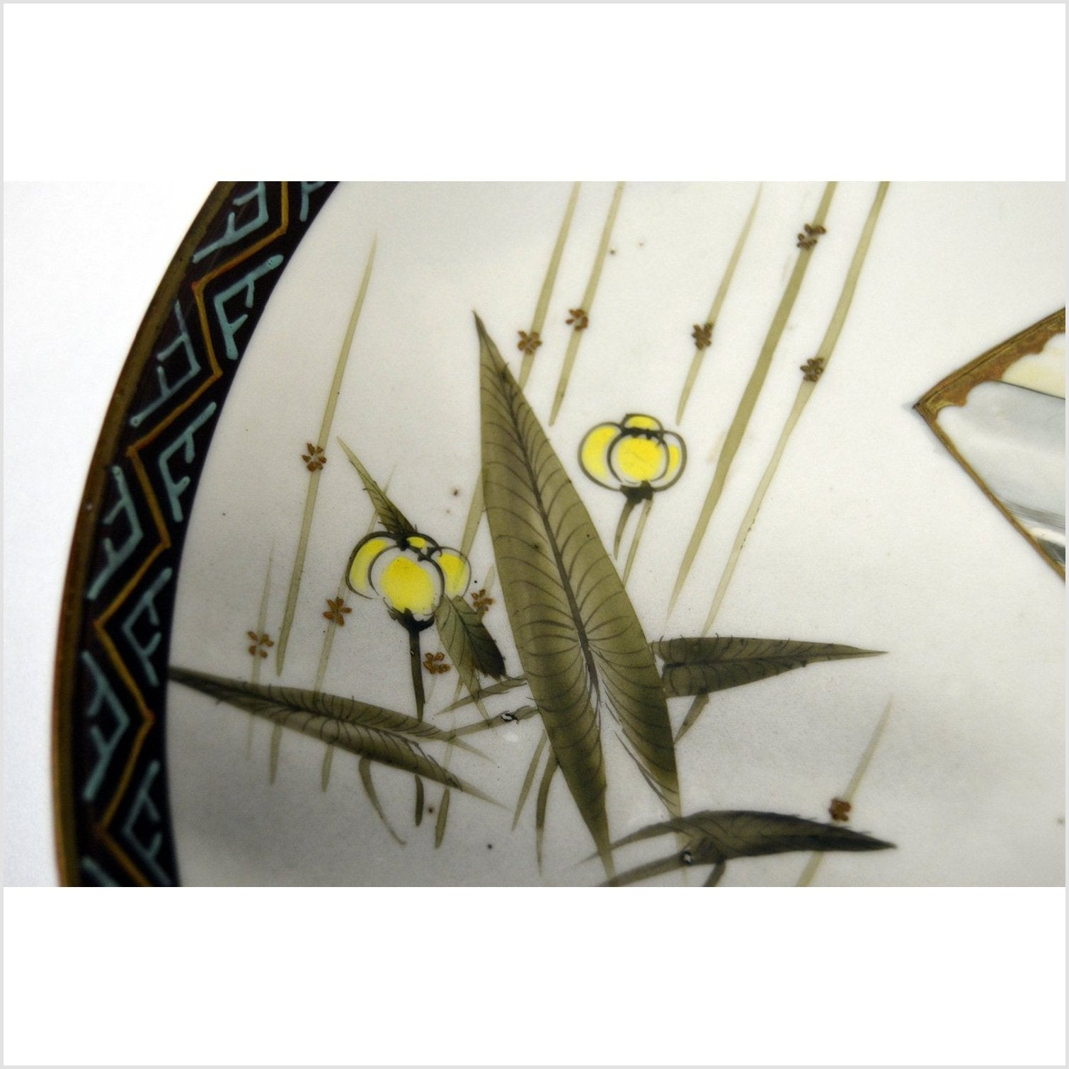 Antique Japanese Taisho Hand Painted Plate