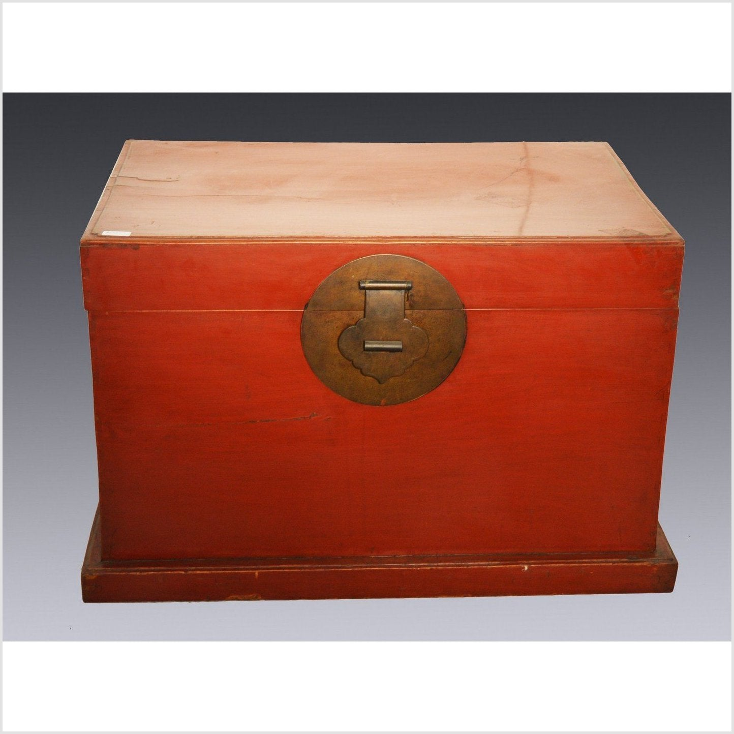 Antique Red Lacquer Chest