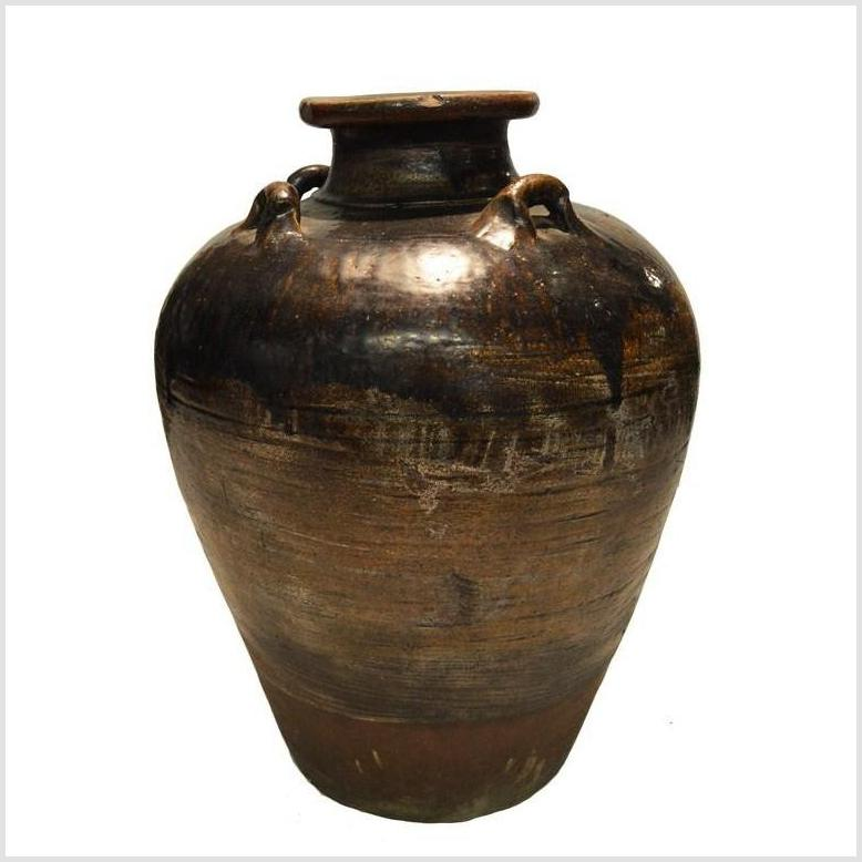 Antique Thai Monochrome Water Jar