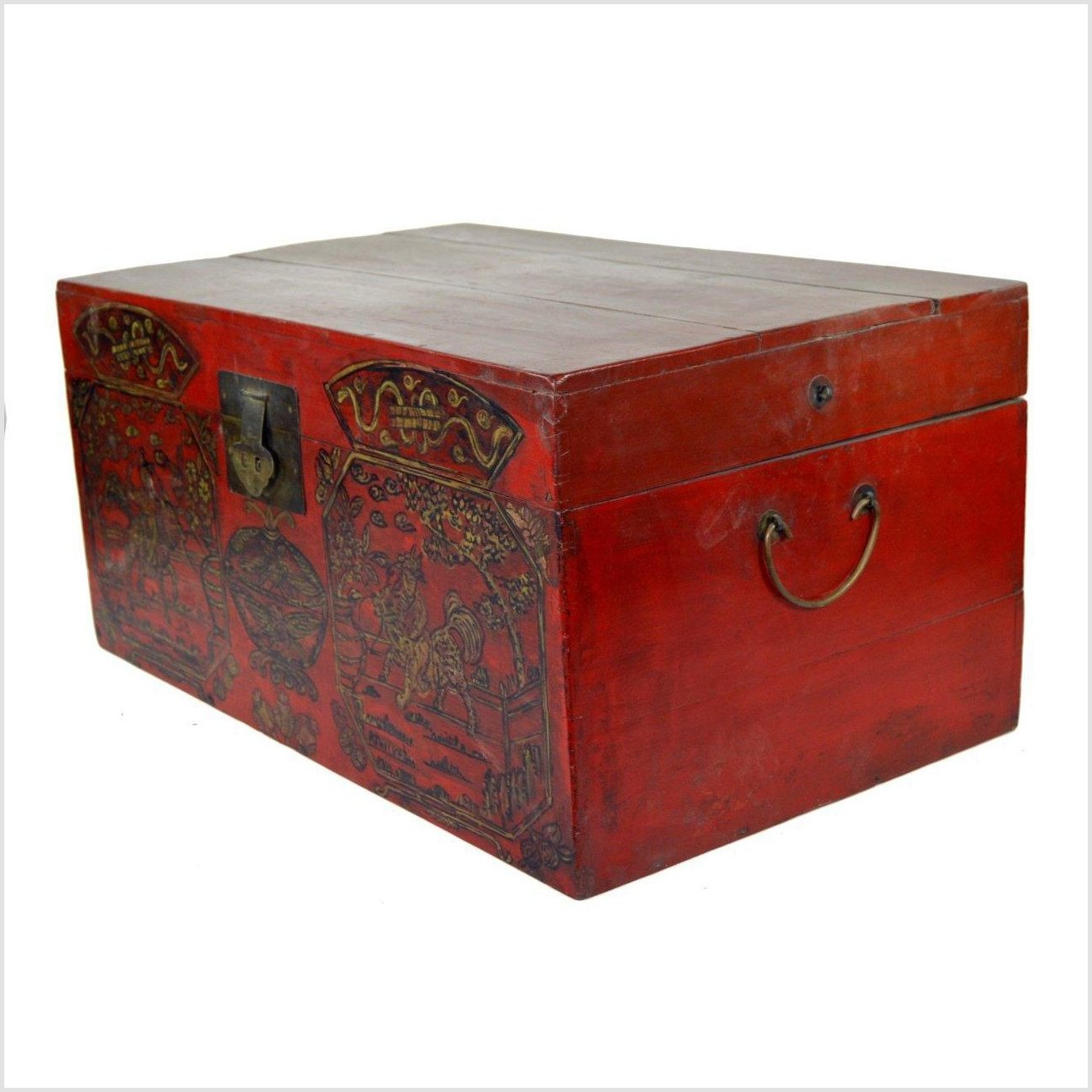 Asian Hand Painted Trunk