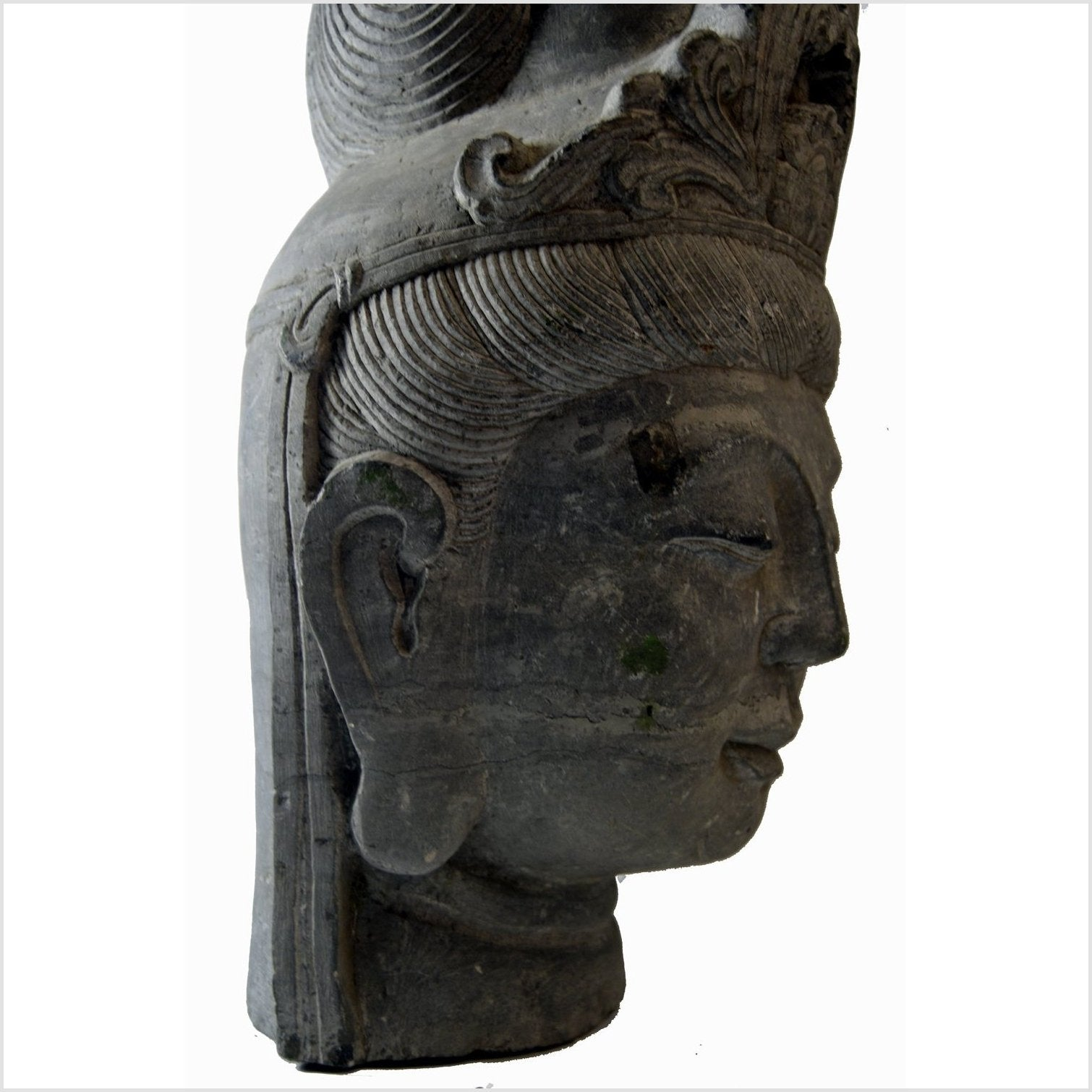 Asian Thai Temple Stone Carving Buddha Head