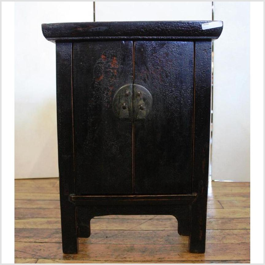 Black Lacquer Side Cabinet