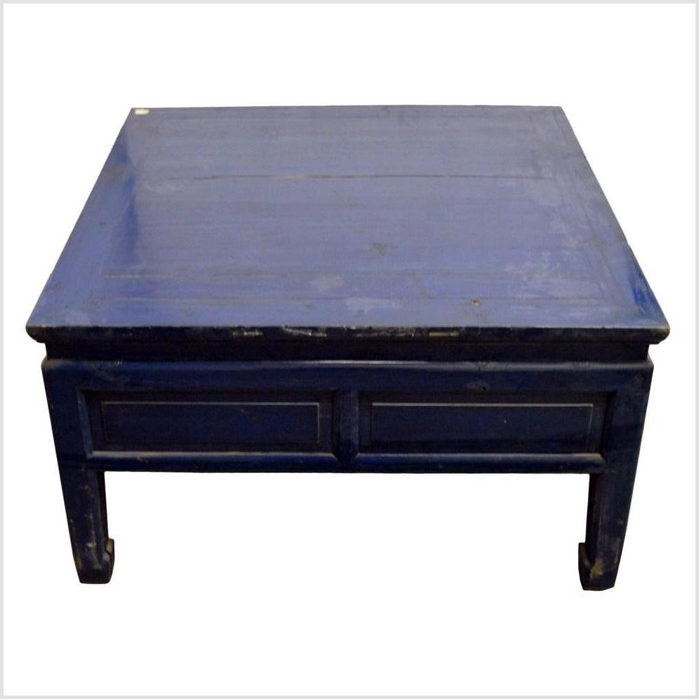 Blue Lacquer Chinese Coffee Table