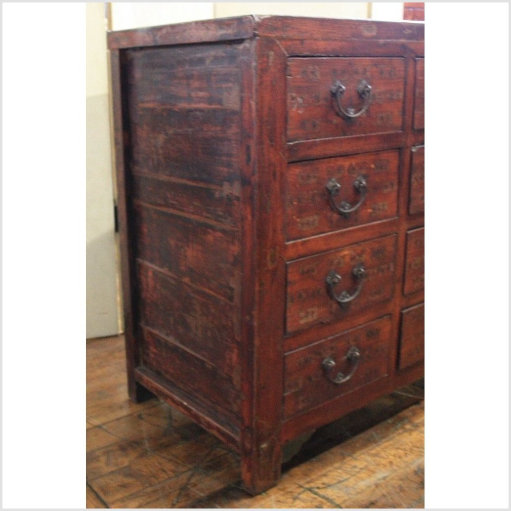 Cabinet with Multiple Apothecary Drawers