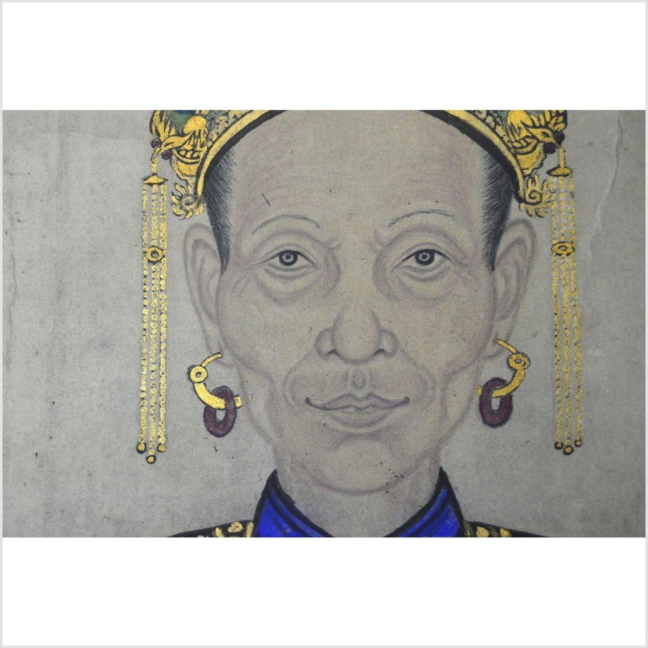 Chinese Ancestors Painting on Linen Canvas