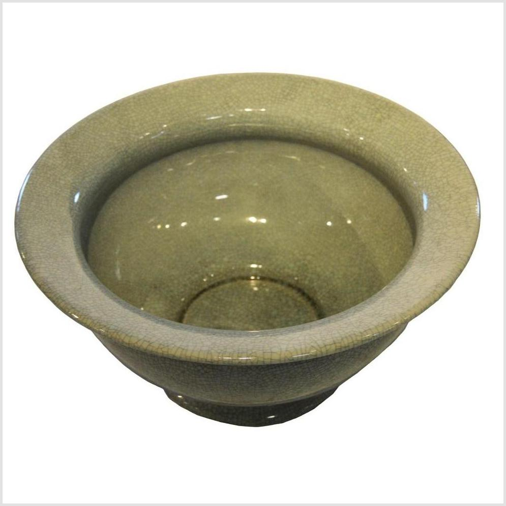 Chinese Crackle Celadon Porcelain Bowl