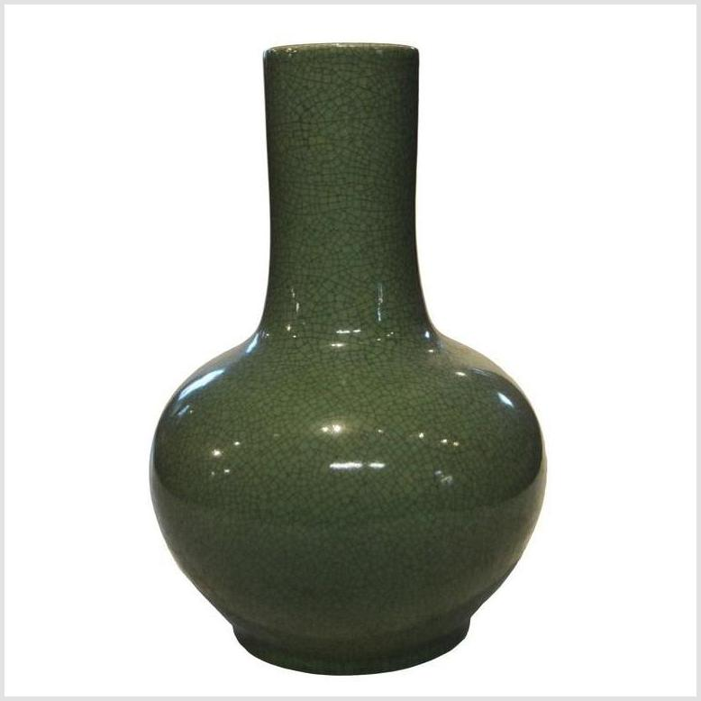 Chinese Crackle Celadon Porcelain Vase