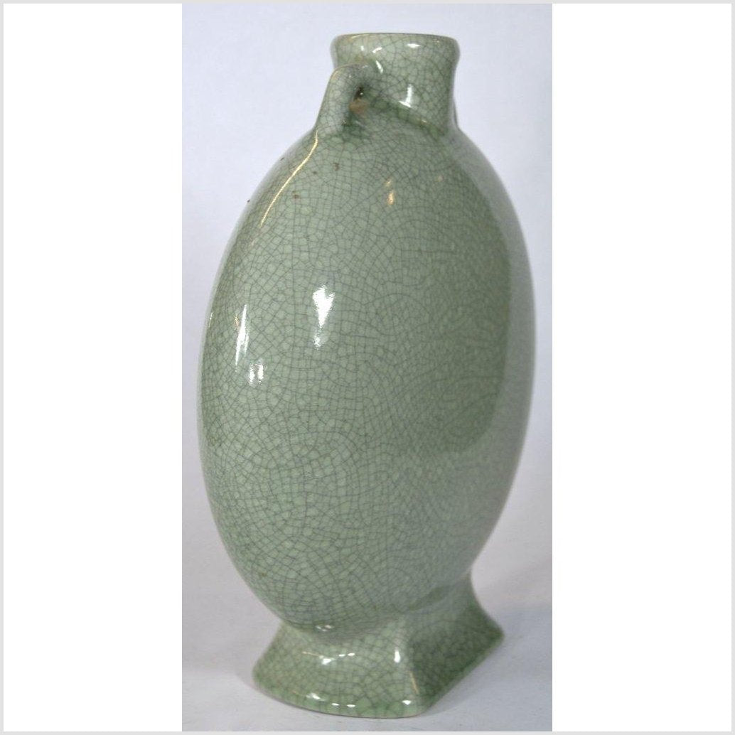 Chinese Green Celadon Flask