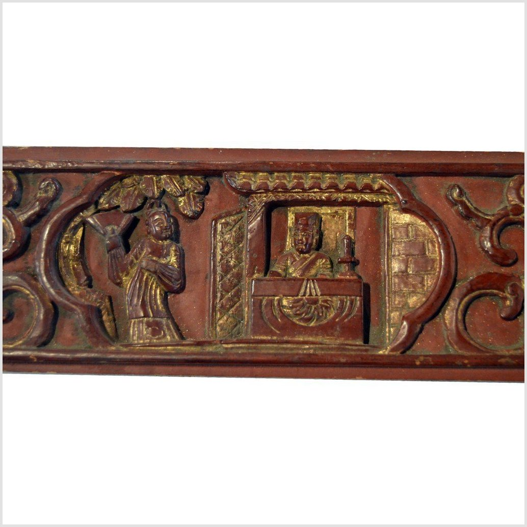 Chinese Hand Carved Wood Plaque