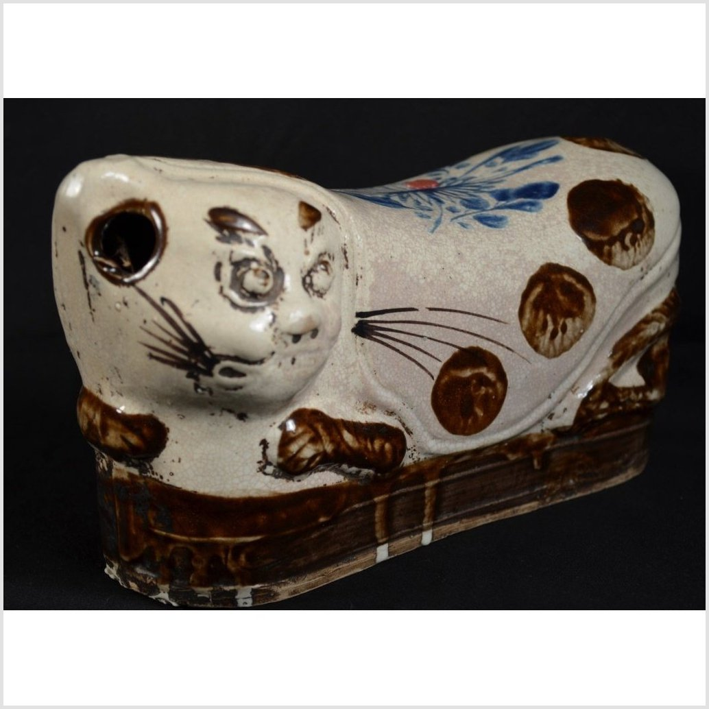 Chinese Porcelain Pillows, Cat Form
