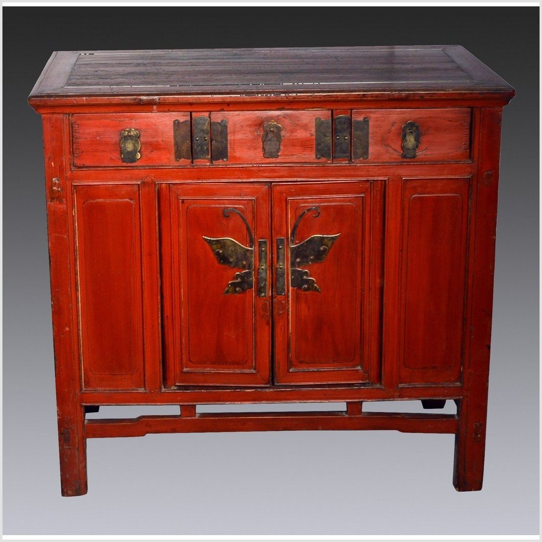 Chinese Red Lacquer Cabinet