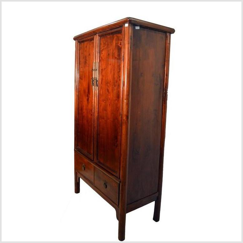Chinese Tapered Elmwood Cabinet