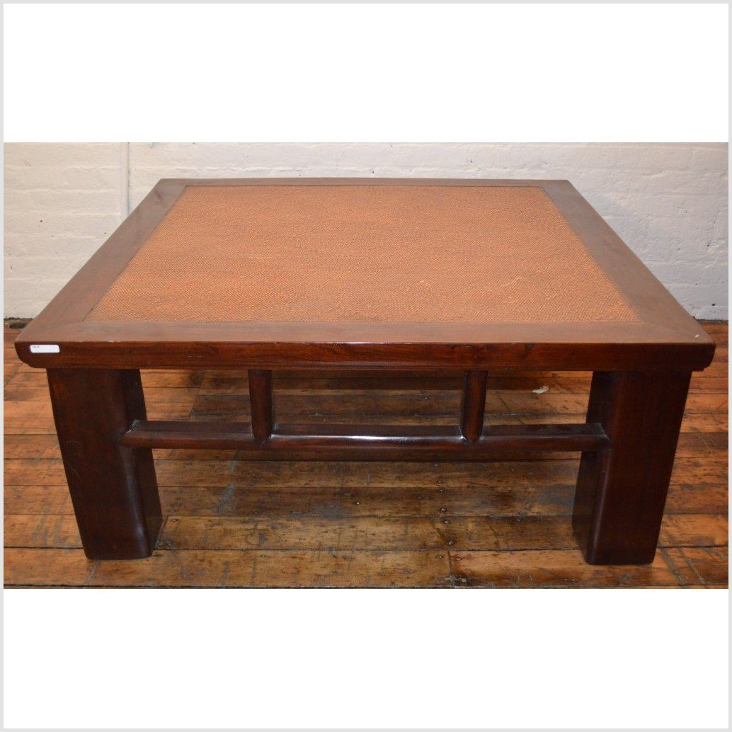 Coffee Table with Rattan Top