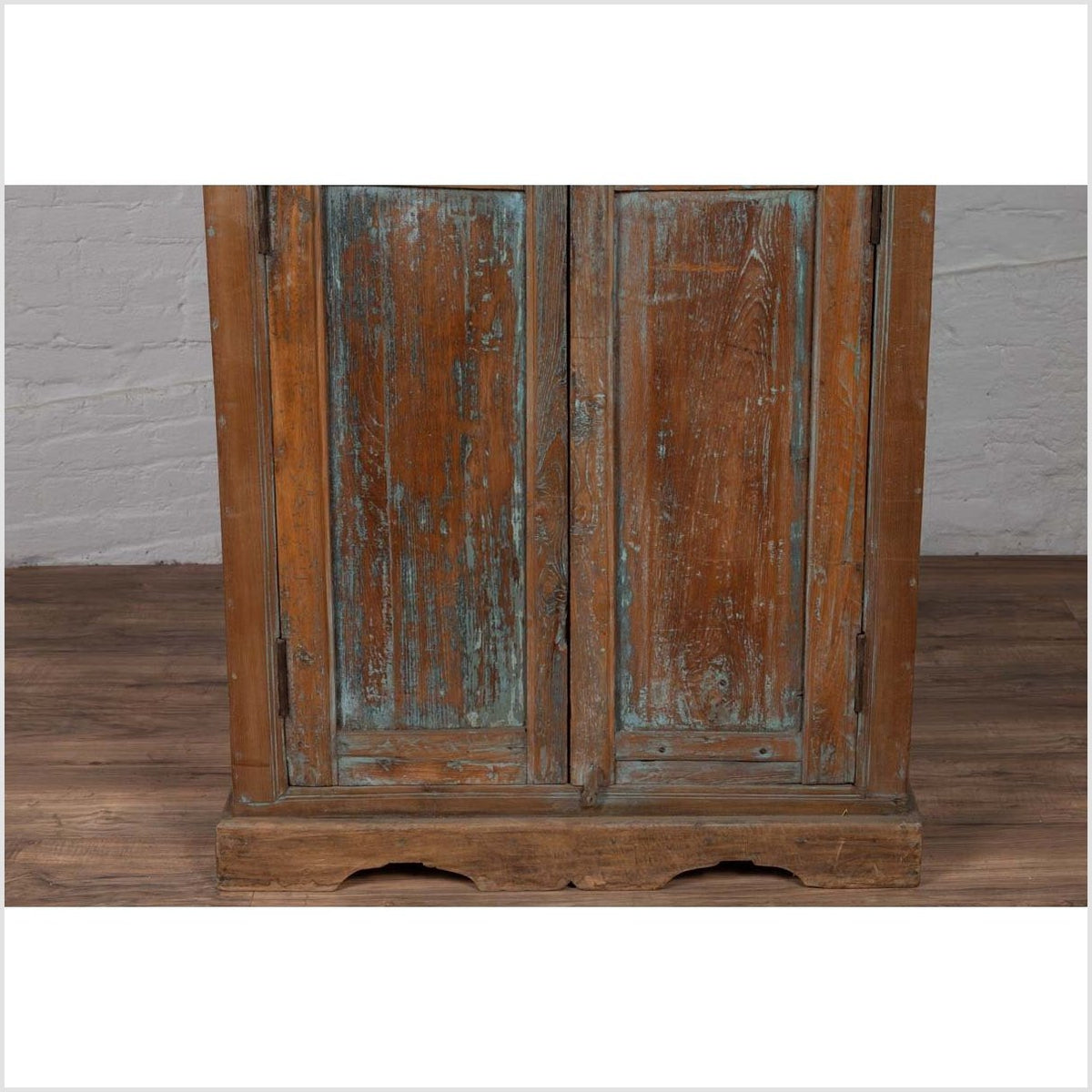 Early 20th Century Indian Rustic Wooden Kitchen Cabinet with Distressed Finish