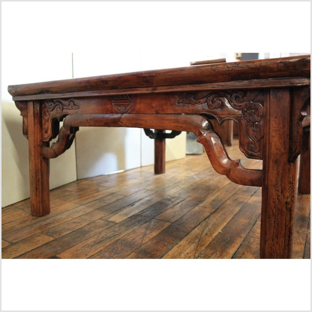 Finely Carved Square Coffee Table
