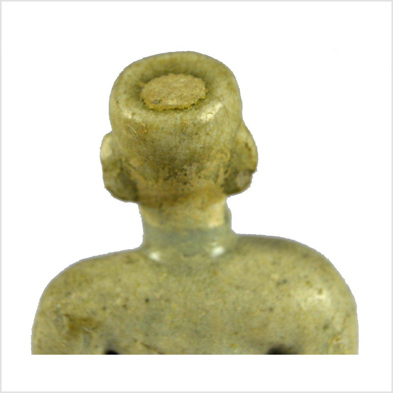 Glazed Terracotta Miniature Fertility Doll