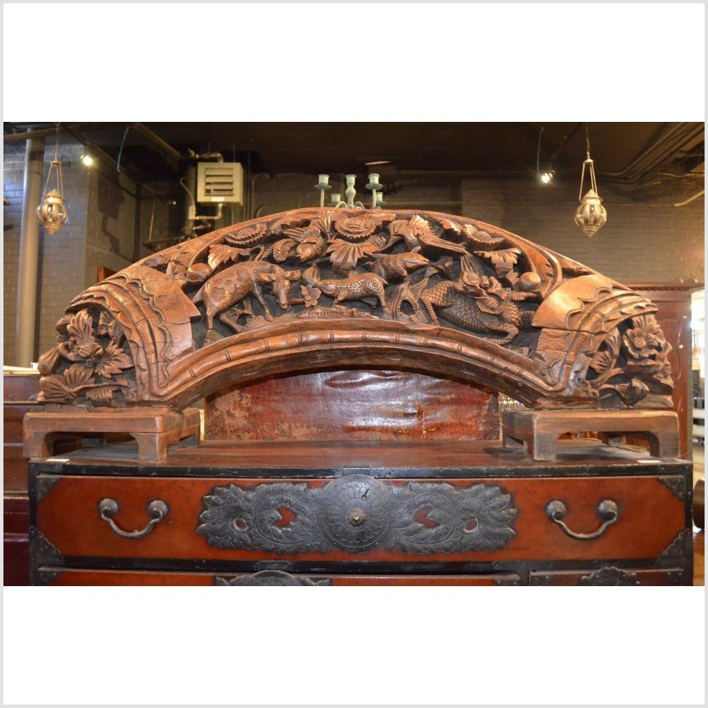 Carved Arch Wood Sculpture