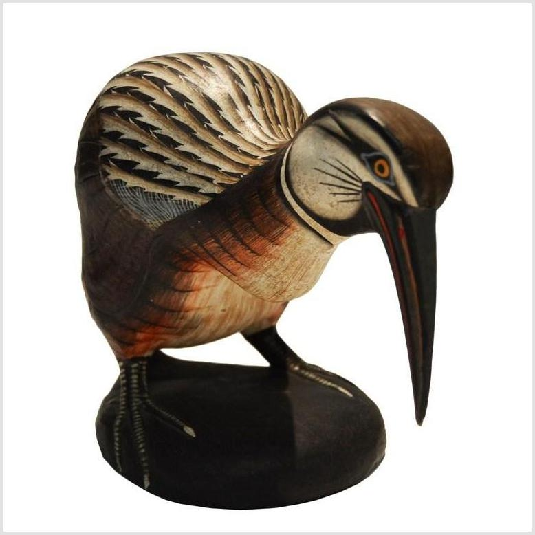 Hand Carved Indonesian Kiwi Bird