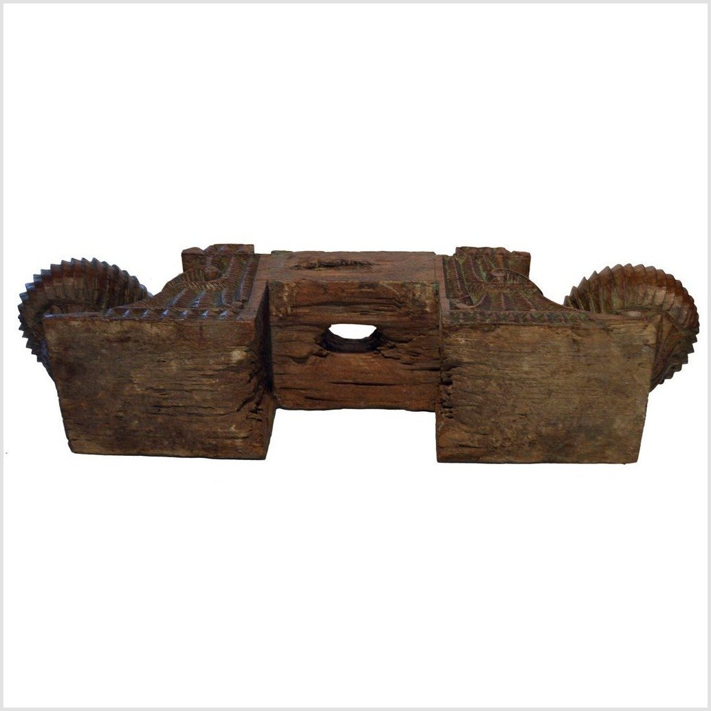 Hand Carved Teak Wood Architectural Element