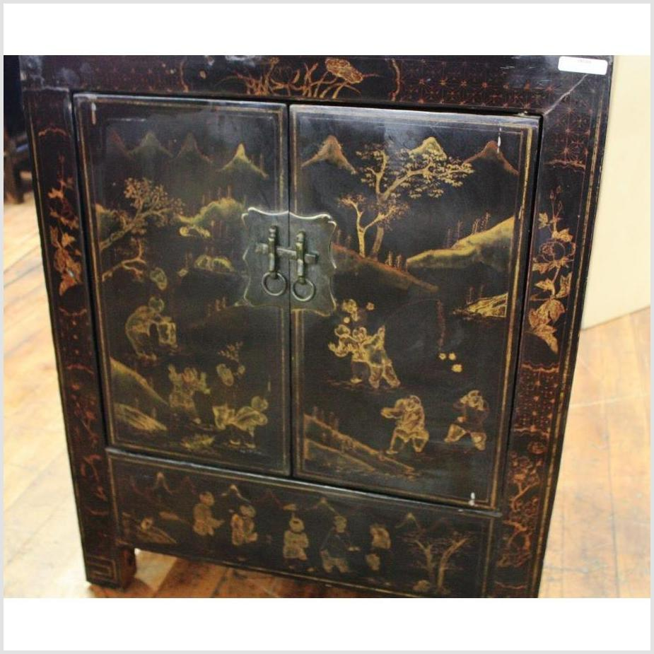 Hand-Painted Black Cabinet