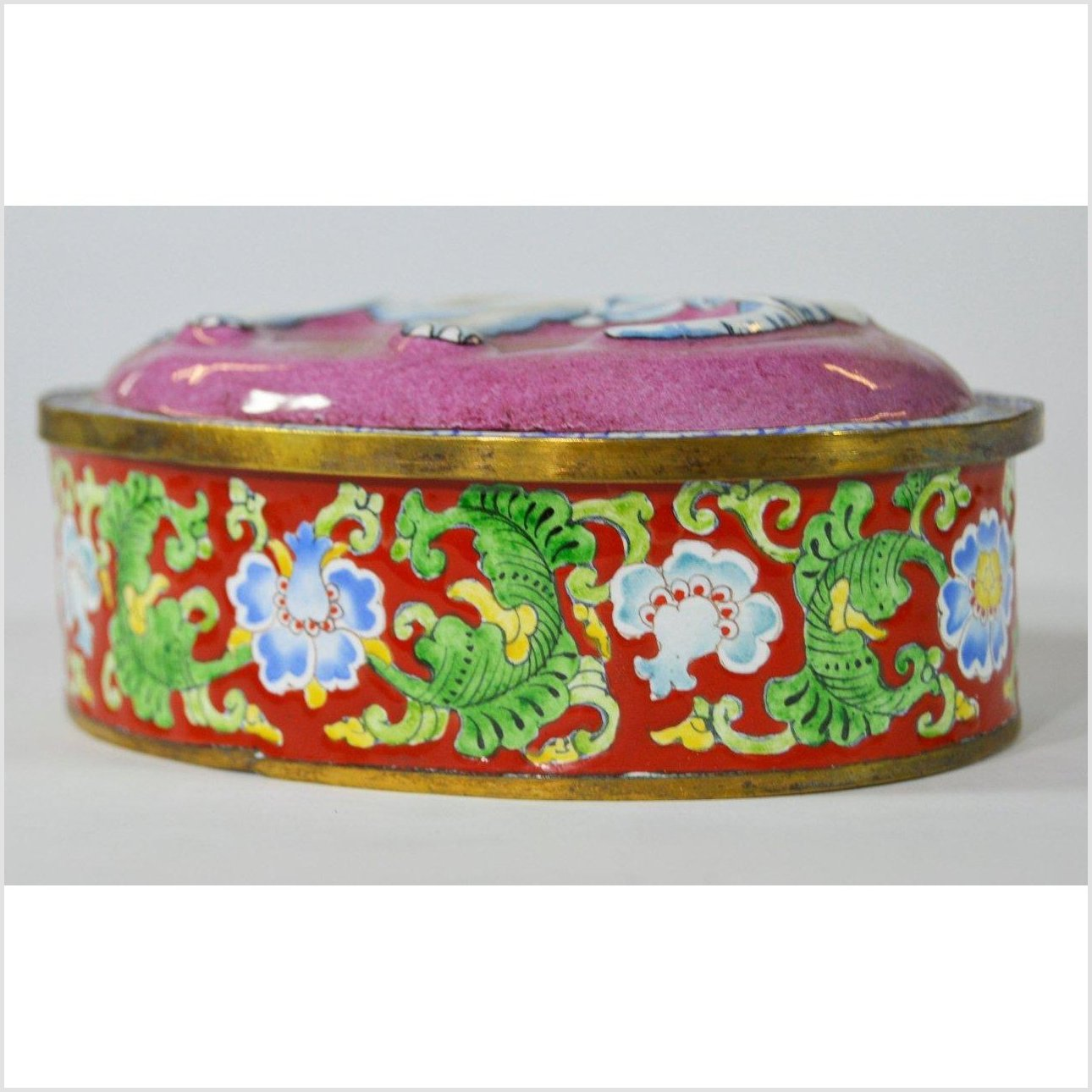 Hand Painted Enamel Box