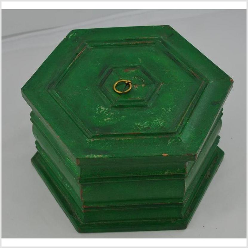 Hand painted Octagonal Box