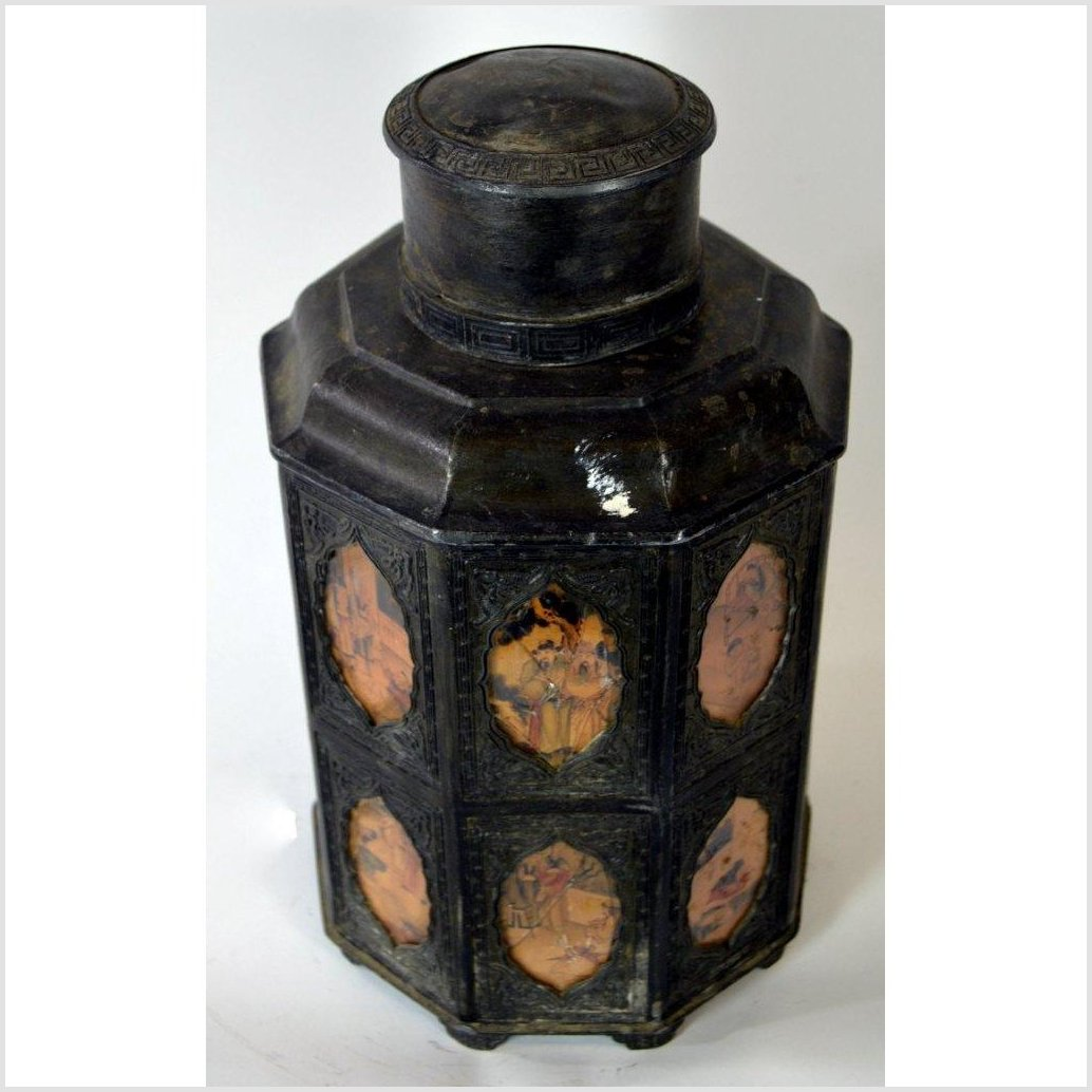 Hand Tooled Pewter Tea Flask