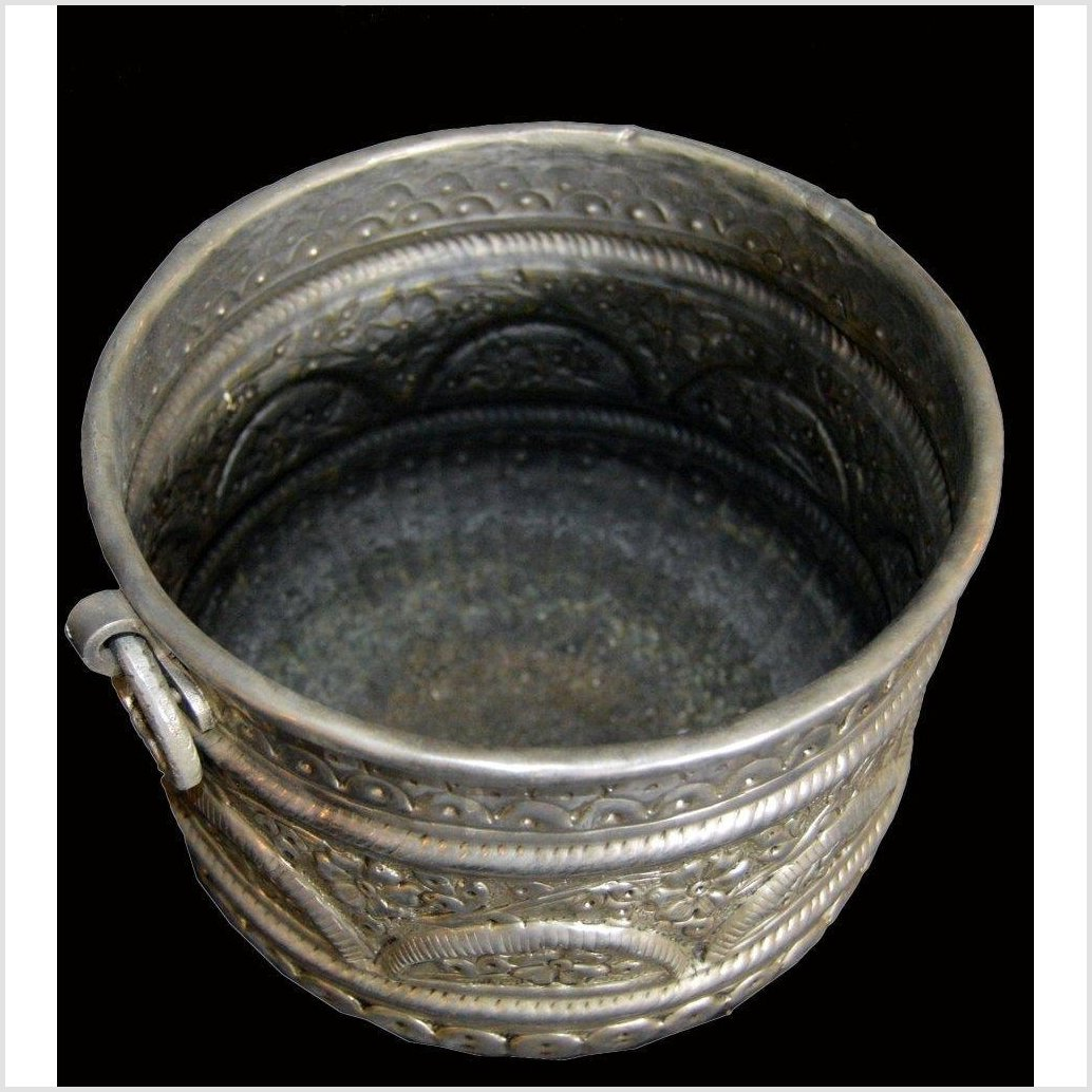 HAND TOOLED SILVER PLATED Ice Bucket