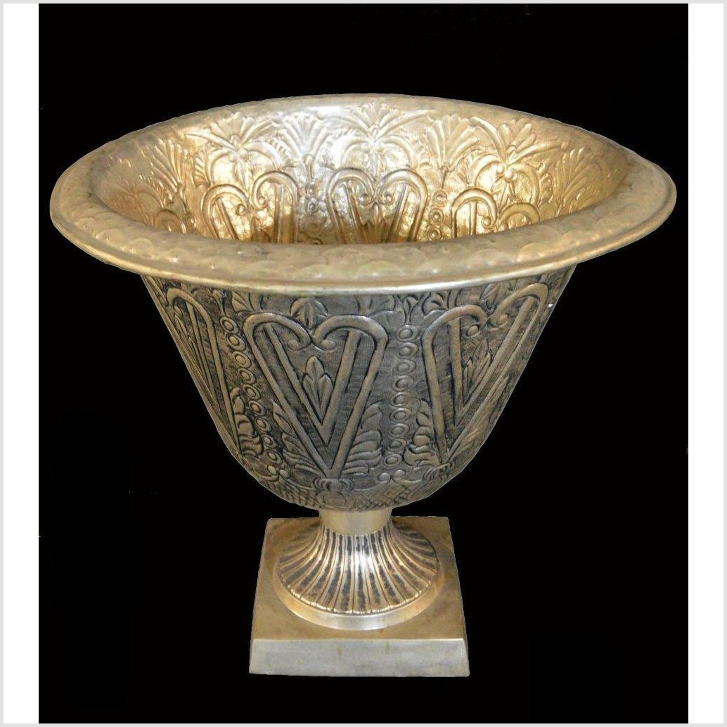 Hand Tooled Silver Plated Planter