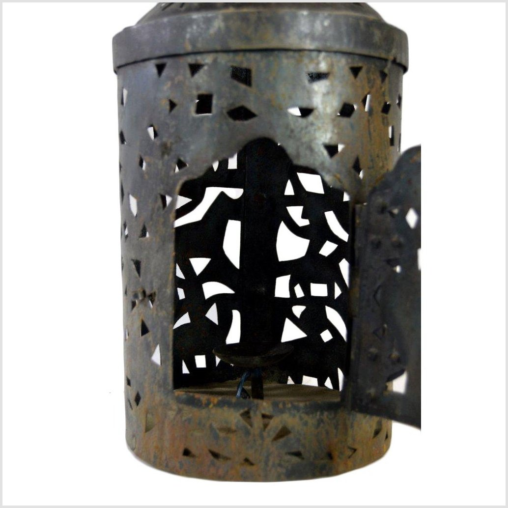 Hand Tooled Tin Candle Lamp
