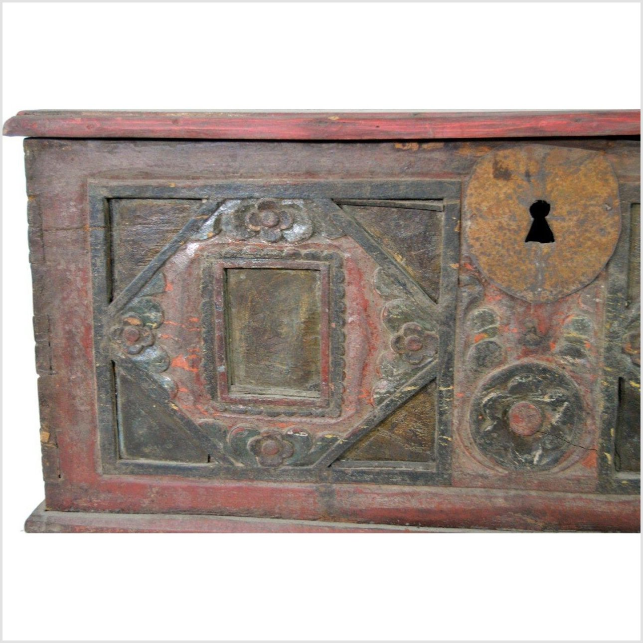 India Hand Carved Bridal Chest