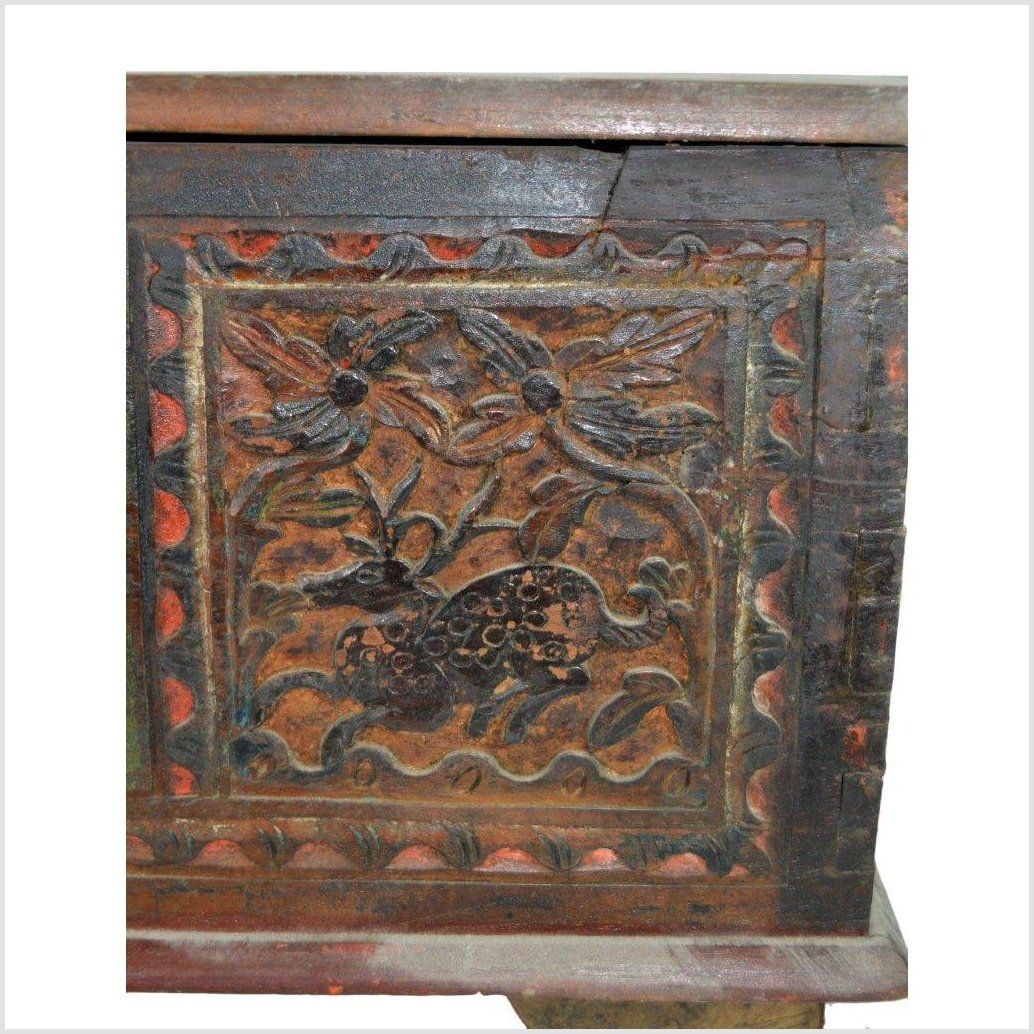 India Hand Carved Treasure Chest