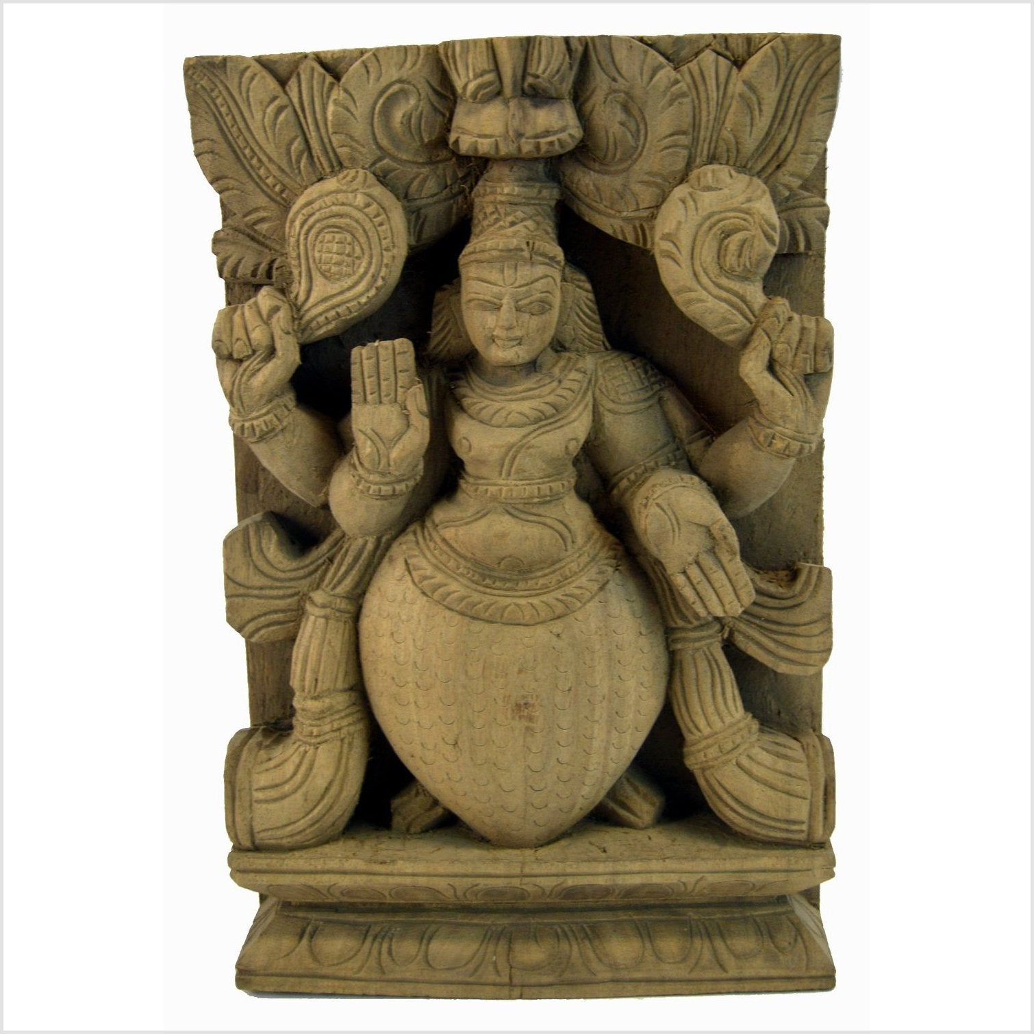 India Temple Sheesham Wood Carving