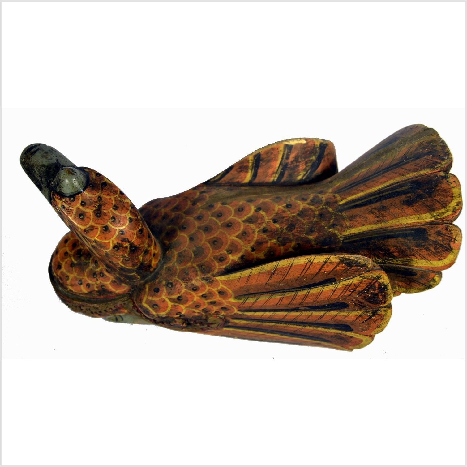 Indian Hand Carved Wooden Duck