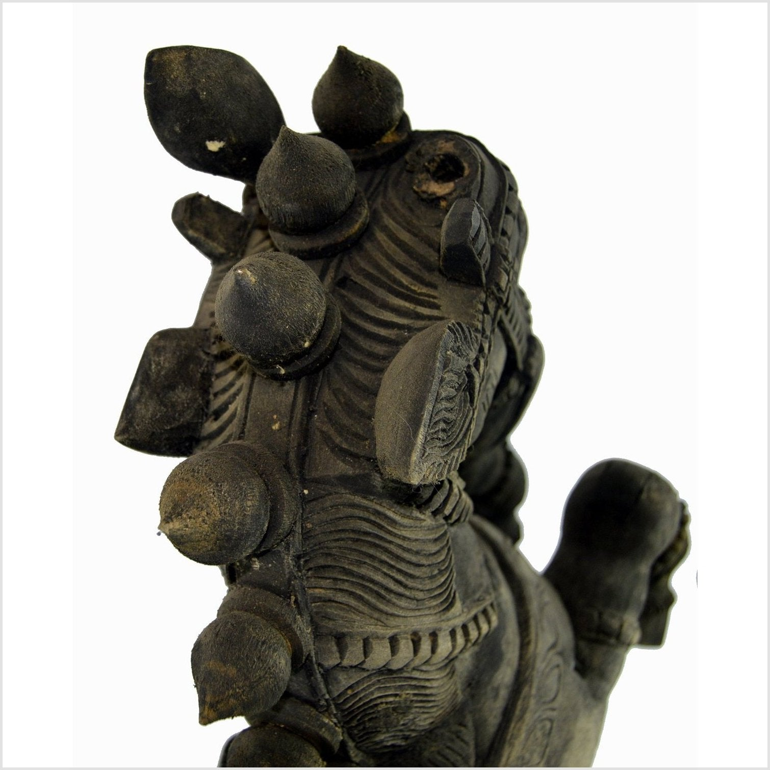 Indian Kerala Hand Carved Wooden Horse