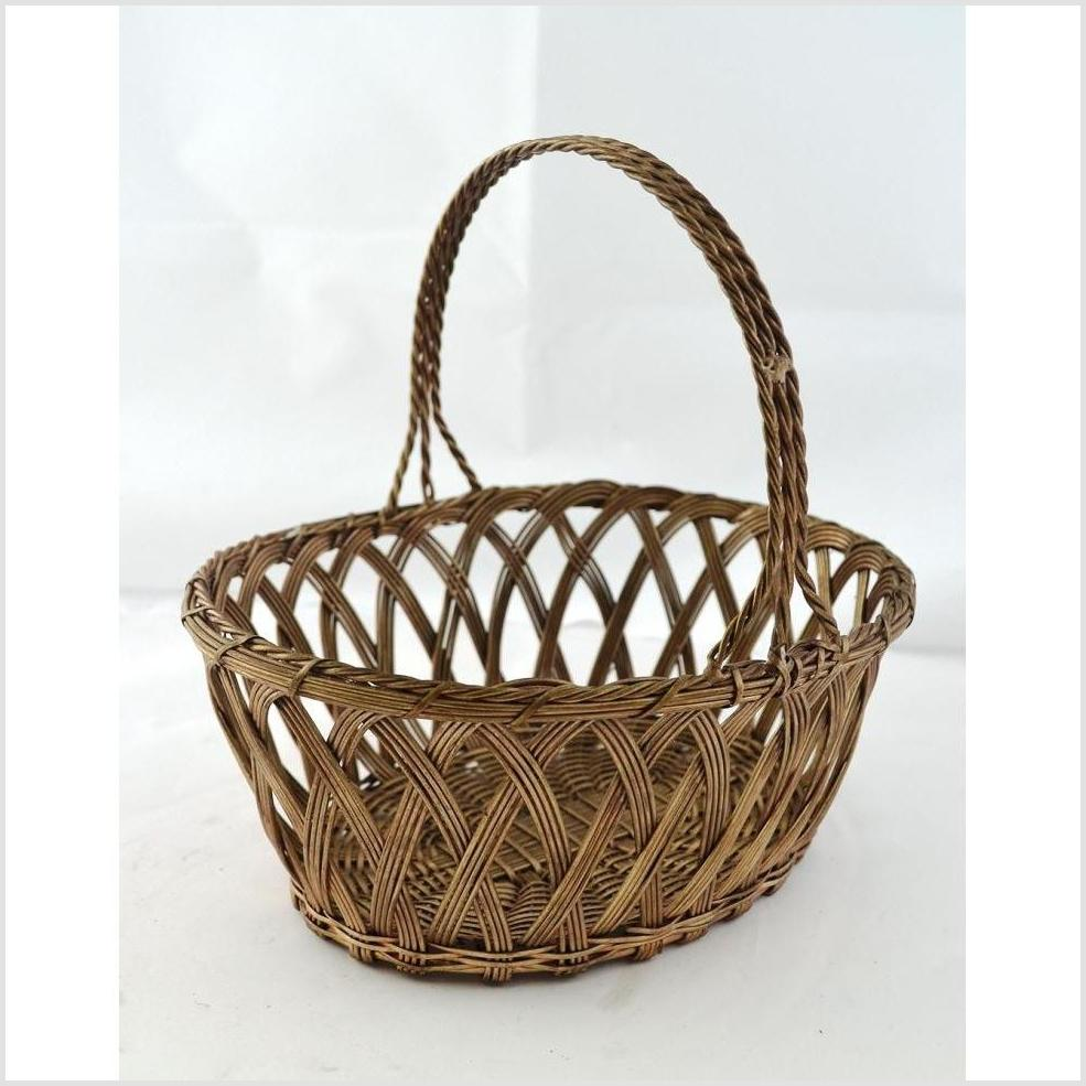 Indian Nickel Wire Woven Basket - Oval