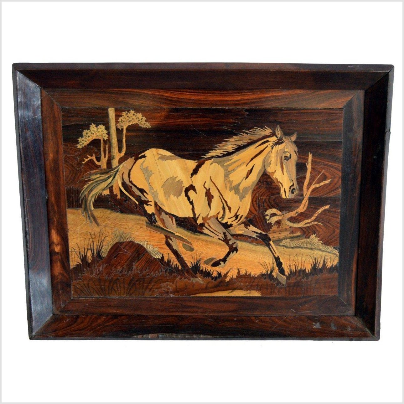 INLAY WOOD WALL DECOR