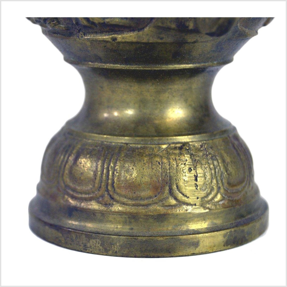 Japanese Altar Brass Ornate Vase