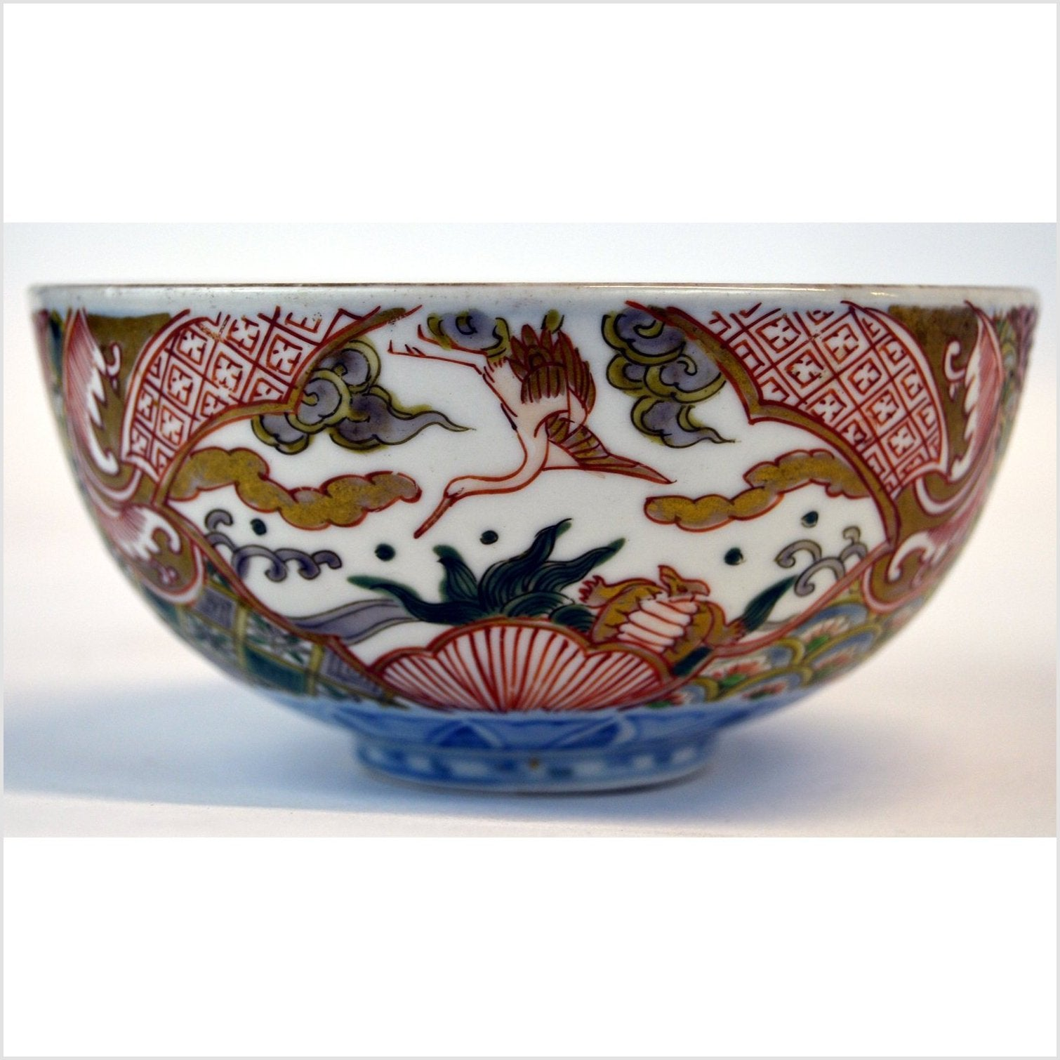 Japanese Multicolor Imari Meiji Porcelain Bowl