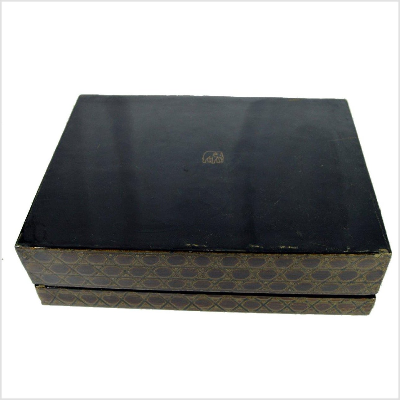 Japanese Negoro Lacquerware Stationery Box